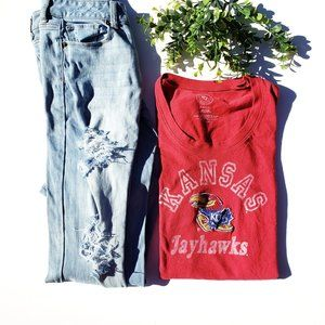 Forty Seven Brand Tagless Kansas Jayhawks Shirt S